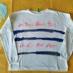 BENETTON girls' Crew Neck Sweater